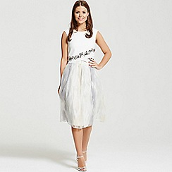 Little Mistress - By Chloe Lewis white embellished trim box top