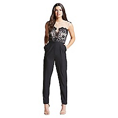 Little Mistress - Monochrome lace bust jumpsuit