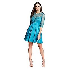Little Mistress - Turquoise Lace and Crochet Mini Dress