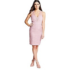 Little Mistress - Rose lace and jewel bust bodycon dress