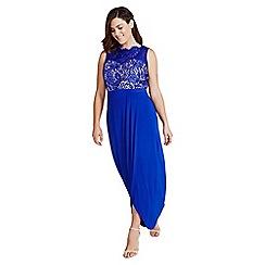 Little Mistress - Cobalt lace maxi dress