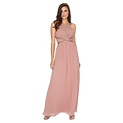 Little Mistress - Rose embellished panel maxi dress