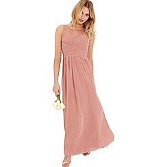 Little Mistress - Peach embellished maxi dress