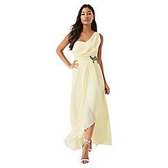 Little Mistress - Lemon jewel waist maxi dress