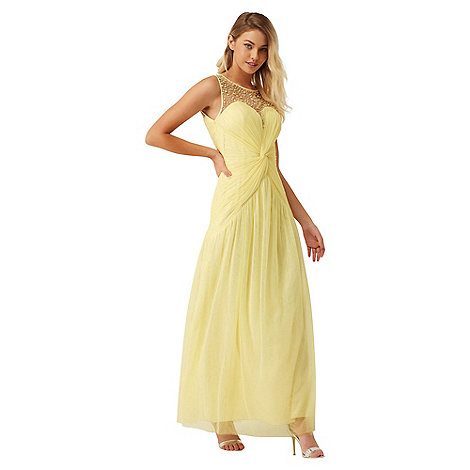 Little Mistress - Lemon knot waist maxi dress