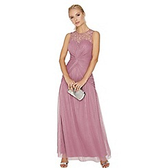 Little Mistress - Rose knot waist maxi dress