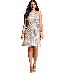 Little Misdress - Gold and cream heavily embellished dress