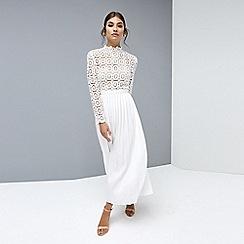 Little Mistress - White midi dress