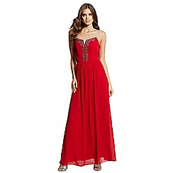 Little Mistress - Red embellished maxi dress