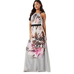 Little Mistress - Floral placement printed maxi dress