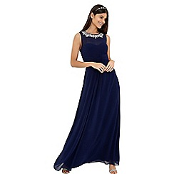 Little Mistress - Navy maxi dress