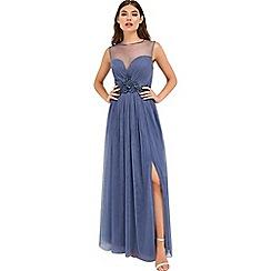 Little Mistress - Lavender mesh maxi dress