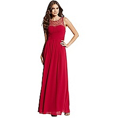 Little Mistress - Berry embellished detail maxi dress