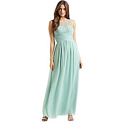 Little Mistress - Sage embellished detail maxi dress