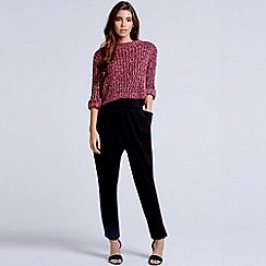 Girls On Film - Black bow detail tapered trousers