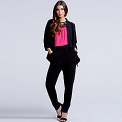 Girls On Film - Black open textured blazer