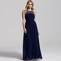 Laced In Love - Navy embellished maxi dress
