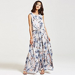 Girls On Film - Pastel floral maxi dress