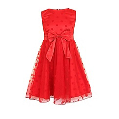 Little Misdress - Red polka dot bow dress