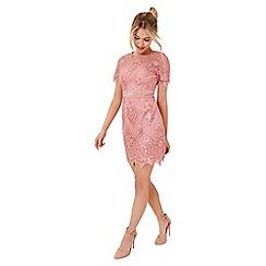 Girls On Film - Pink lace mini dress