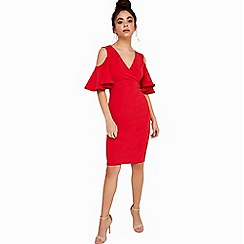 Girls On Film - Red bodycon dress