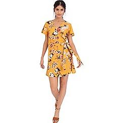 Girls On Film - Yellow print shift dress