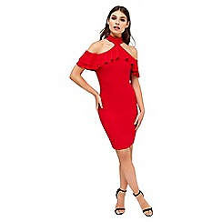 Girls On Film - Red cold shoulder bodycon dress