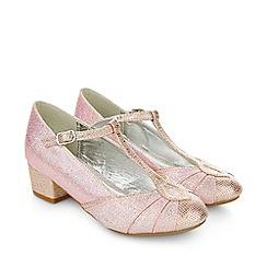 Monsoon - Pink Shimmer sparkle t bar charleston