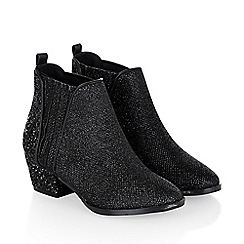 Monsoon - Black 'Sparkle' chelsea ankle boot shoes