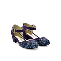 Monsoon - Purple 2 part sparkle bead heel