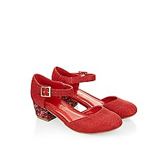 Monsoon - Red Sparkle glitter 2 part heel shoe