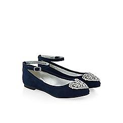 Monsoon - Blue Beautiful gem pointed toe flat shoe