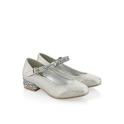 Monsoon - Silver Diamante strap mini heel shoe