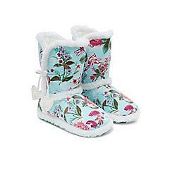 Monsoon - Blue Primavera slipper boot