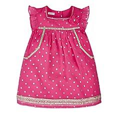 Monsoon - Pink Baby amari spot dress