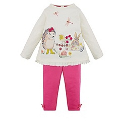 Monsoon - White Baby posey hedgehog top and legging set