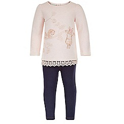 Monsoon - Pink Baby louisa sweat top and jegging set