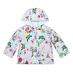 Monsoon - Blue Newborn florence reversible jacket