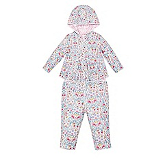 Monsoon - Multicoloured  Newborn ditsy reversible hooded top & trouser