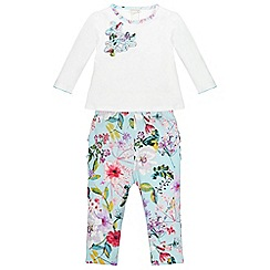 Monsoon - Blue Newborn florence jersey set