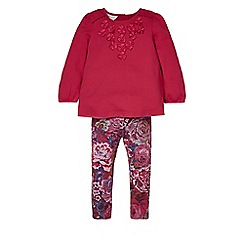 Monsoon - Pink Baby lara jersey set