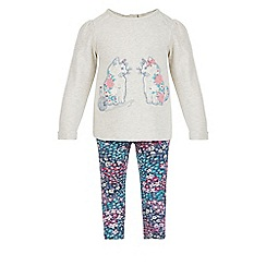 Monsoon - Brown Baby dahlia cat sweat top & legging set