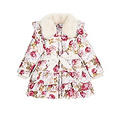 Monsoon - Cream Baby molly printed padded coat