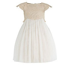 Monsoon - Baby girls' gold estella dress