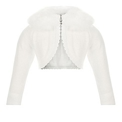 Monsoon - White Baby firenze fur cardigan