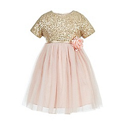 Monsoon - Gold Baby principessa dress
