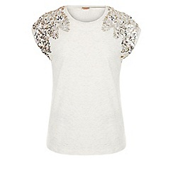 Monsoon - Brown Athens sequin top