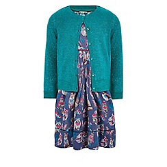 Monsoon - Multicoloured  Bluebell dress and cardigan