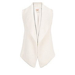 Monsoon - White Quebec fur gilet
