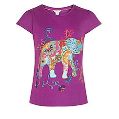 Monsoon - Purple Effie elephant top